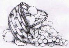 Desenhos Lindos de Frutas e Flores | Desenhos e Riscos - Desenhos para colorir