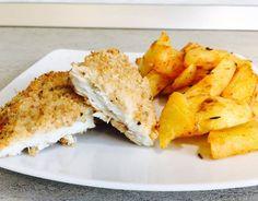 Cod cu iaurt la cuptor Cornbread, Cod, Cheese, Vegetables, Healthy, Ethnic Recipes, Millet Bread, Cod Fish, Vegetable Recipes