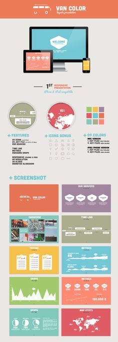 Fan of color background and white info graphics versus the other way around.