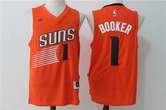 Suns 1 Devin Booker Orange Swingman Jersey Devin Booker eb947dd4e