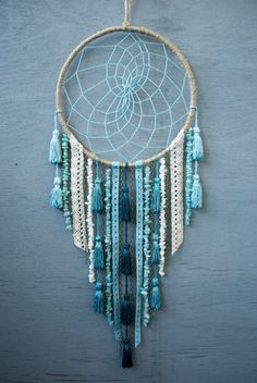 Sea Dreamcatcher by catchingthesea on Etsy Dream Catcher Decor, Dream Catcher Boho, Crafts To Sell, Diy And Crafts, Arts And Crafts, Dreamcatchers, Beautiful Dream Catchers, Crochet Home Decor, Bohemian Decor