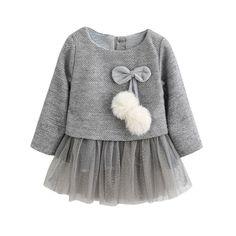 Ropa bebé Amlaiworld Recién Bebé Niñas Manga larga Tutú princesa vestido (18-24 Mes, Gris): Amazon.es: Ropa y accesorios