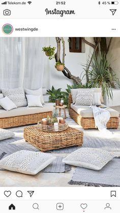 Ideas For Boho Patio Decor Backyards Ikea Outdoor, Outdoor Rooms, Outdoor Living, Outdoor Decor, Outdoor Couch, Home Interior Design, Interior And Exterior, Exterior Design, Balkon Design