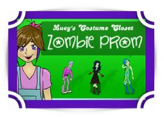 Math - Zombie prom -- unlock game with math then create fun character. -Fun4theBrain Game