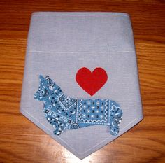 Dog Bandana Wlsh Corgi Double Sided Collar Style