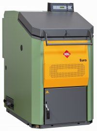 HDG Euro range of wood log, central heating and hot water boilers.