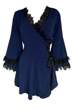 Womens Plus Size Clothing Victoria Corset Top in Midnight