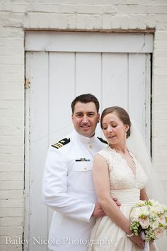 Portraits: Stunning Bride and Her Navy Groom