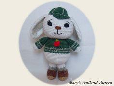 Tim Rabbit the Ami  Amigurumi crochet pattern  by MarysAmiland  #amigurumipattern #bunny #animal #amigurumi #crochet #rabbit