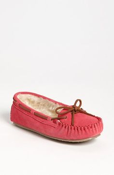 The Cally Slipper.  I have these and love them.  Under $40, super cozy, and DARLING!