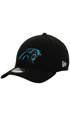 NFL Men s Carolina Panthers New Era Black 39THIRTY Flex Hat New Era  39thirty a149a403e
