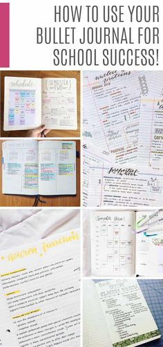 25 Creative School Bullet Journal Layouts {to help you stay on top of your study game!} Check out these bullet journal college ideas for back to school tips from packing lists and study notes to a planner for each semester! Bullet Journal Mood Tracker, Back To School Bullet Journal, Bullet Journal Student, Bullet Journal Notes, Bullet Journal Layout, Bullet Journal Inspiration, Journal Ideas, Creative Journal, College Planner