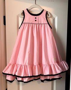 Kids Summer Dresses, Kids Outfits Girls, Girls Fashion Clothes, Little Girl Dresses, Toddler Fashion, Kids Fashion, Girls Dresses, Baby Frock Pattern, Frock Patterns