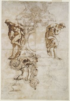 "Drawing, ""Design for the Base of the Silver Crucifix for the High Altar of Saint Peter's, Rome"", 1670–72"