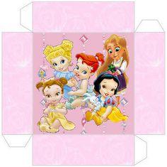 Cajas para imprimir gratis de Princesas Bebés Disney.