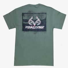 Realtree Outfitter shirts | Realtree Men's Duck Scenic Short Sleeve Green Shirt