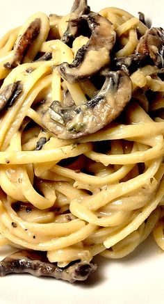 Linguine with Mushroom Cream Sauce Recipe