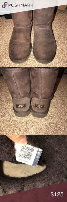 Uggs size 5 in kids fits women's 7! Barley used worn 3 times UGG Shoes Winter & Rain Boots