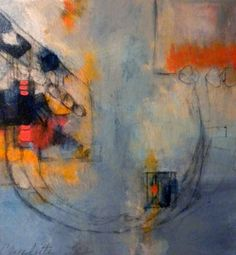 """Saatchi Online Artist: Claudette Lee-Roseland; Paint, Mixed Media """"Rhythm in the Abstract"""""""