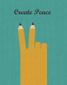 Craig Hopson- Create Peace for 2016 Freelance Illustrator, Unique Art, Playroom, Illustration Art, Peace, Japan, Creative, Inspiration, Biblical Inspiration
