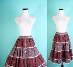 Gunne Sax / Gunne Sax Skirt / Prairie Skirt / Boho by aiseirigh, $31.00
