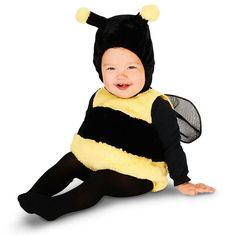 Baby Lil' Bee Costume, Infant Unisex, Size: 12-18MONTH, Multicolor
