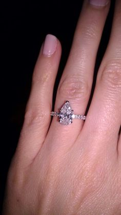 Pear Shaped Ring Anyone? « Weddingbee Boards .. I'll take this one please