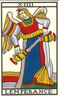 Tarot de Jean Noblet, XIIII Lemperance, JC Flornoy restauration