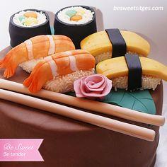 Pastel Fondant ¡ Para una amante del Sushi! ~ Be Sweet: reposteria creativa