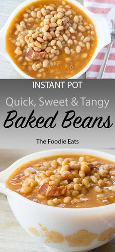 Make quick and easy baked beans from scratch in your Instant Pot! The perfect BBQ or summer pot luck recipe. Pressure Cooker / Instant Pot Baked Beans - Quick, Sweet, and Tangy Baked Beans From Scratch, Easy Baked Beans, Baked Bean Recipes, Baked Beans Recipe Pressure Cooker, Instant Pot Pressure Cooker, Potluck Recipes, Clean Recipes, Backed Beans, Pot Luck