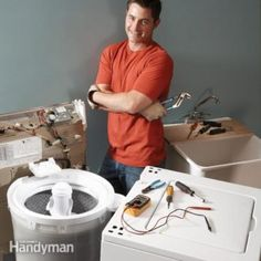 DIY Washer Repair: Fix 90 percent of clothes washer breakdowns with these four easy fixes—including filling and draining problems, grinding noises and a failure to spin. Home Fix, Appliance Repair, Diy Home Repair, Diy Cleaning Products, Cleaning Tips, Cleaning Checklist, Home Repairs, Diy Home Improvement, Washing Machine
