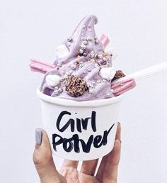 Necessary to amp up Girl Power #icecream