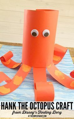 Make this Finding Dory Hank the Octopus craft its a perfect addition to any Finding Dory Party activity. Or if you are just looking for a simple Finding Dory activity to do with the kids. Disney Crafts For Kids, Summer Crafts For Toddlers, Easy Crafts For Kids, Toddler Crafts, Toddler Fun, Octopus Crafts, Ocean Crafts, Finding Dory, Finding Nemo Games