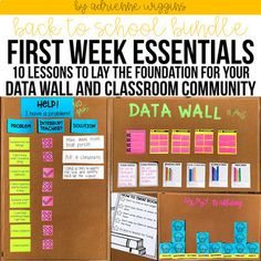 Back to School Pack 10 First Week Lessons 038 D Classroom Data Wall, 4th Grade Classroom, Classroom Bulletin Boards, Classroom Setup, Vocabulary Bulletin Boards, Classroom Environment, Google Classroom, Future Classroom, Student Data Tracking