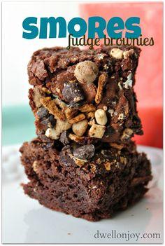 Dwell on Joy: Smores Fudge Brownies