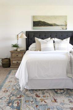 Coastal Master Bedroom, Coastal Bedrooms, Bedroom Black, Coastal Homes, Bedroom Wall, Bedroom Office, Master Bedrooms, Bedroom Ideas, Modern Coastal