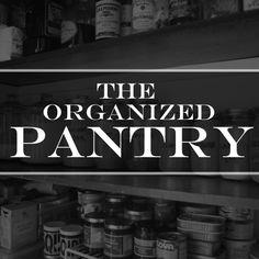 ORGANIZED PANTRY // shutterbean