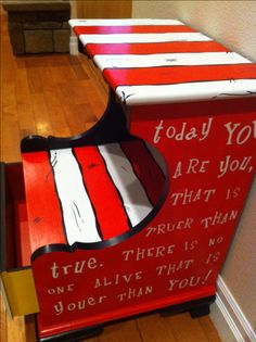 16 Ideas for baby furniture diy nursery dr. Dr Seuss Nursery, Dr Seuss Art, Dr Suess, Dr Seuss Chairs, Kids Corner, Baby Furniture, Classroom Decor, Decoration, Playroom