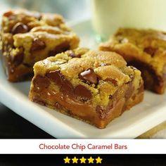 Chocolate chip caramel bars