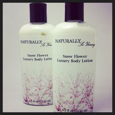 Body Lotion Vegan Organic and Natural  Snow by NaturallySoYoung, $8.00