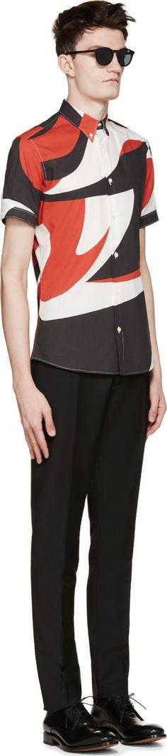 Farb- und Stilberatung mit www.farben-reich.com - Alexander McQueen White Printed Shirt