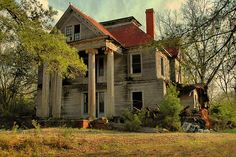 """""""The McRainey House"""" - Built 1908 & completed in 1909 for Malcolm Archibald McRainey and his wife Alice Huldah Galloway in Georgia"""