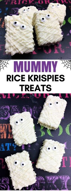 3-Ingredient Spooky Mummy Rice Krispies Treats are the perfect easy-to-make #Halloween treat #recipe.