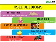 An idiom is a phrase or fixed expression that has a figurative, or sometimes literal meaning. An idiom's figurative meaning is different from the literal meaning. Check out these commonly used idioms and their meanings! English Grammar Rules, Learn English Grammar, English Idioms, English Study, English Class, English Vocabulary, Idioms And Their Meanings, Idiomatic Expressions, Broken Leg