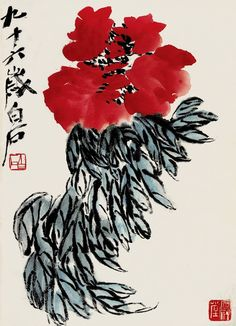 Qi Baishi is certainly THE most diligent painter in Chinese history, maybe in the entire world history. His painting is like his diary that he produced on the daily bases. When he got sick (which wasn't often but did happen from time to time) and couldn't fulfil his daily painting quote, he would create extra numbers of painting after he recovered from the illness. And he did so until the day before his death in 1957.