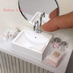 2017 May. Miniature bathroom ♡ ♡ By Rutile