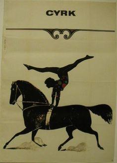 Roslaw Szaybo, 1965 Acrobatic rider Polish Poster