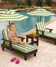 When kids are ready to kick back, these lounge chairs are the perfect place to rest thanks to their top-quality craftsmanship and child-friendly size.
