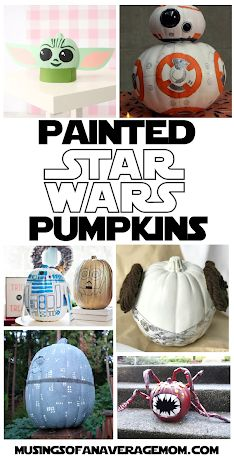 Make your own DIY Painted Star Wars pumpkins with these templates and instructions. Party Activities, Halloween Activities, Halloween Projects, Halloween Ideas, Halloween Party, Activities For Kids, Pumpkin Carving Templates, Diy Painting, Pumpkins