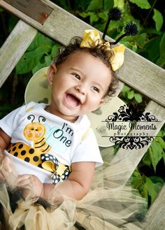 Bumble Bee First Birthday Girl Outfit I'm One Baby by Whimsy Tots Boutique, $31.50